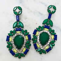 Exquisite Jewel Dangle Green