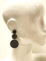 Triple Jet Graduated Disks Pave Earring