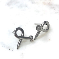 Bent Nail Earring