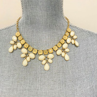 Ivory Five Pointed Bib Necklace