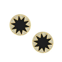House of Harlow Larger Pave Sunburst Earring- Black