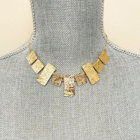 Textured Blocks Necklace