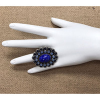 Lapis Oval Ring