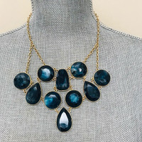 Chain Linked Baubles Blue