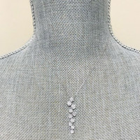 Micro Pave Small Attached Circle Necklace