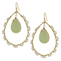 Light Green and Pearl Wrapped Hoop