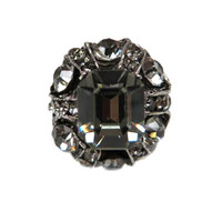 Black Diamond Vintage Dome Ring