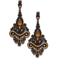 Chantilly Runway Earring Brown