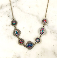 Blue Patterned Necklace