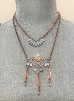 Copper Deco Layered Chain Design