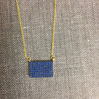 Sapphire Rectangle Necklace