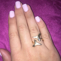 Charlene K's Double Real Shark Tooth Ring