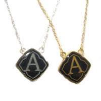 Preppy Little Black Initials