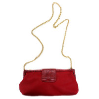 SR Squared By Sondra Roberts Red Embossed Clutch