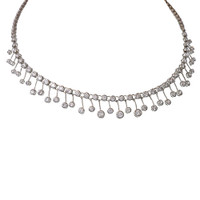 Cubic Zirconia Waterfall Drops Necklace