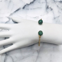 Emerald Crystal Tipped Bangle
