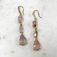 Molly's Pink Triple Crystal Drops