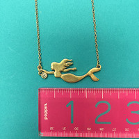 Little Mermaid With Cubic Zirconia Necklace