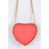 Large Red Heart & Chain Cross Body