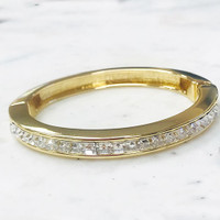 C.Z. Channel Set Bangle Gold