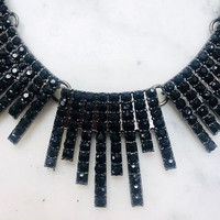 Black Deco Sticks Necklace