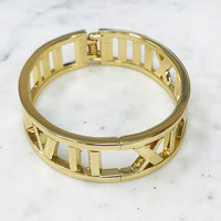 Gold Roman Numerals Bangle