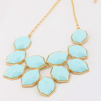 Robin's Egg Baby Blue Statement Necklace