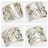 Handcrafted Monogram Initial Cuff