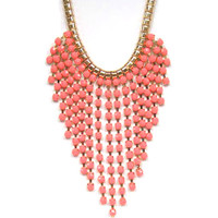The Fringe Necklace in Light Coral
