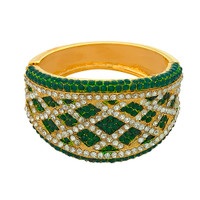 Emerald Estate Jeweled Lattice Cuff