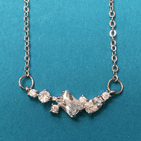 Variety of Shapes Cubic Zirconia Necklace