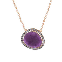 Abstract Shaped Amethyst Necklace