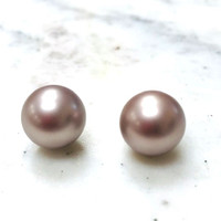 Large Round Champagne Pearls