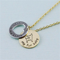 "Chihuahua ""Fur Baby"" Forever in Our Hearts Necklaces"