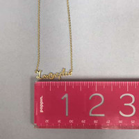 Los Angeles Script Necklace