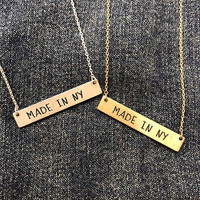 Made in NY Bar Necklace