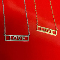 L-O-V-E Cut Out necklace