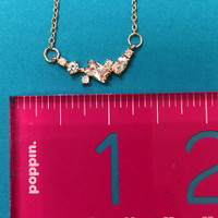 Variety of Shapes Cubic Zirconia Necklace in Rose Gold