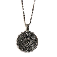 Hematite Oversized Medallion Necklace