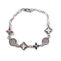 Kisses and Hugs Statement Silver Bracelet