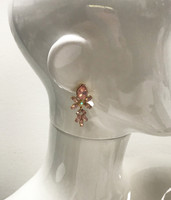 Peyton's Pink Opal Jeweled Earring