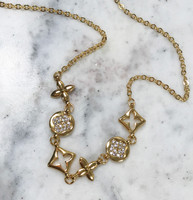 Kisses and Hugs Statement Gold Necklace