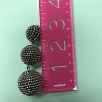 Hematite Beaded Balls Earring