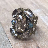 Sorrelli Apricot Agate Ring with Pastel Accents