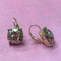 Glitter Euro Dangle Earring