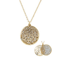 Layered Circle Medallion Necklace