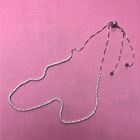 Adjustable Cubic Zirconia Tennis Necklace