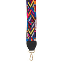 Multi-Colored Handbag Strap in Black
