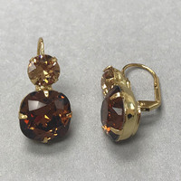 Sorrelli Bright Gold with Topaz Crystals Earring