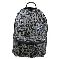 Gray Ombre Patterned Sequin Backpack